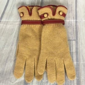 Anthropologie STCN Gloves OS Yellow Lambs Wool